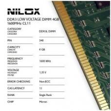 RAM DDR3L DIMM 4GB 1600MHZ CL11