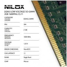 RAM DDR3L SO-DIMM 2GB 1600MHZ CL11